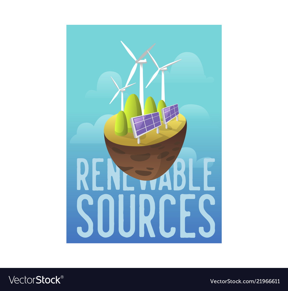 Sustainable energy sources green technology