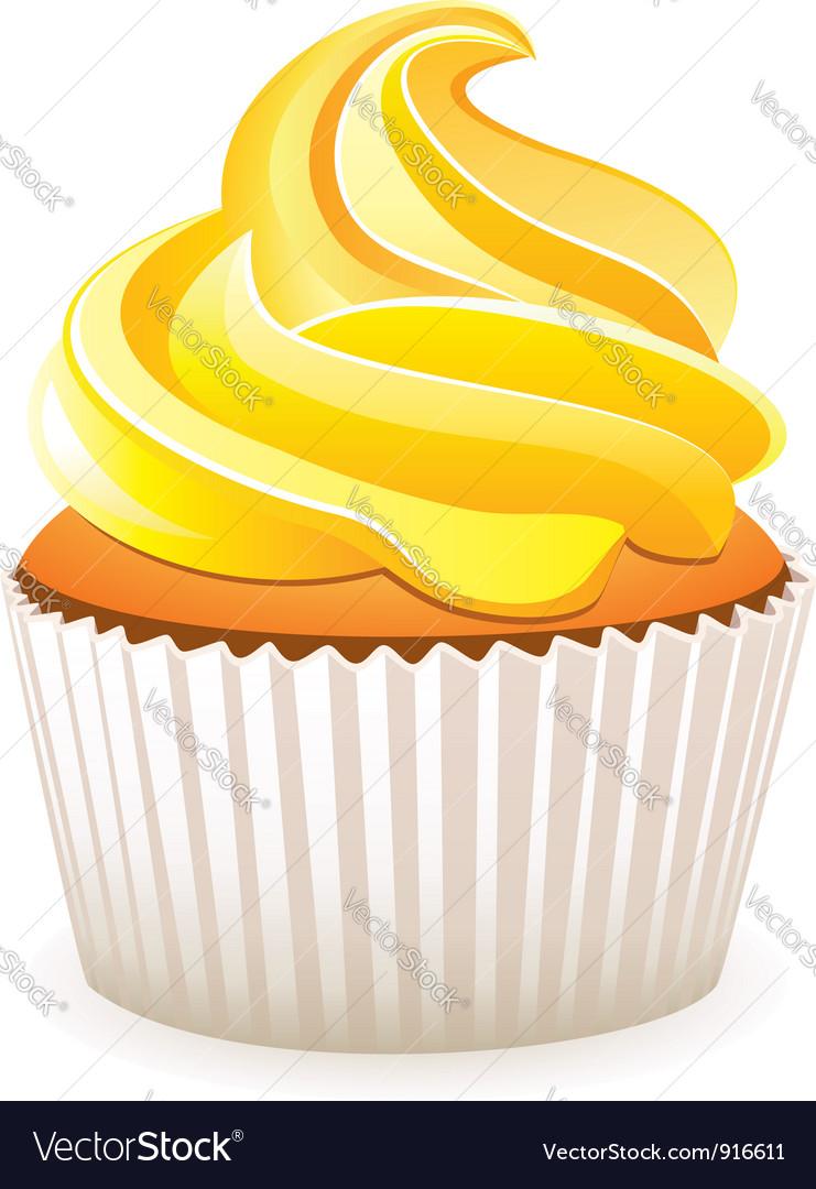 yellow cupcake royalty free vector image vectorstock rh vectorstock com cupcake factory newcastle cupcake victoria station