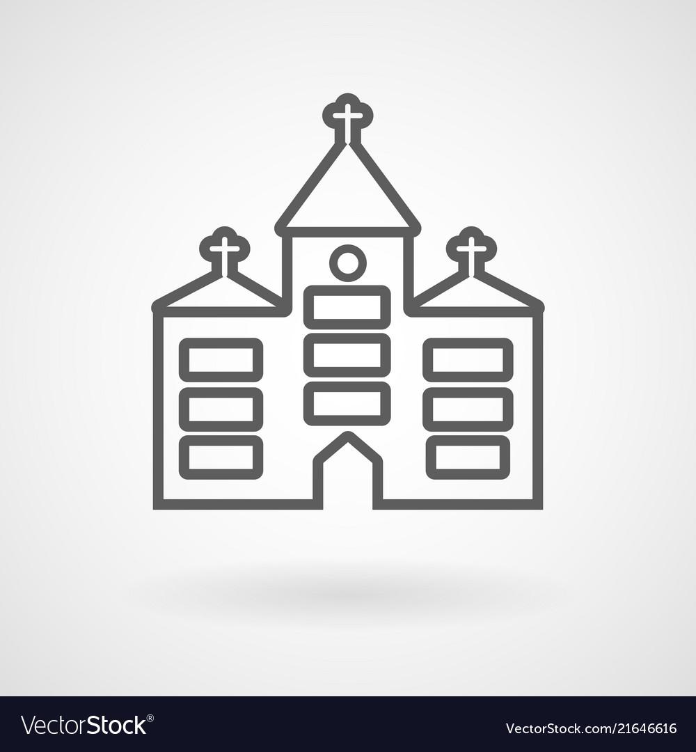 Church icon on white background