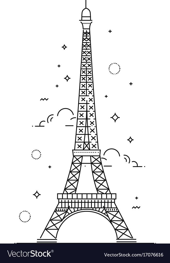 Eiffel tower paris icon design vector image