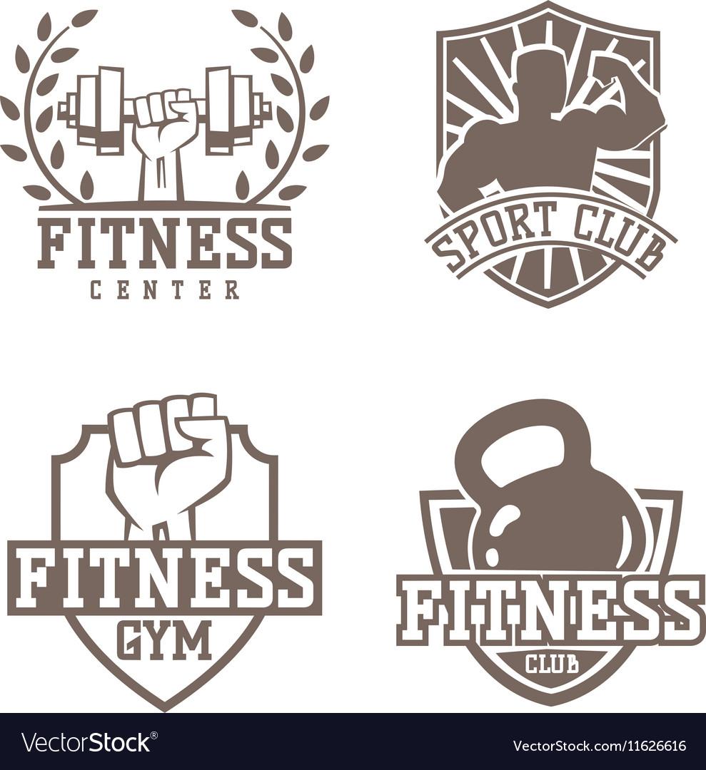Gym fitness logo badge
