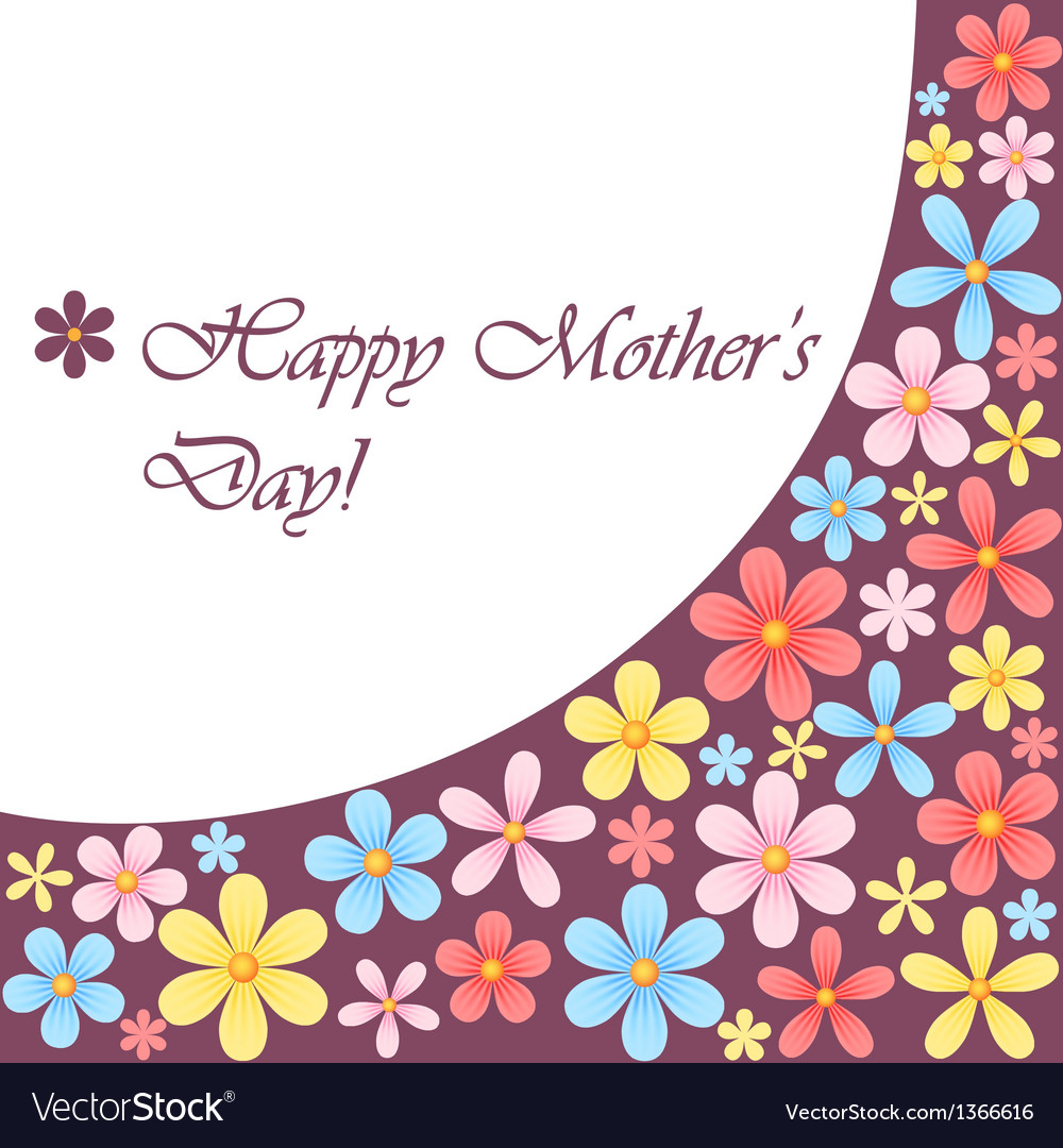 Mothers day card with flowers