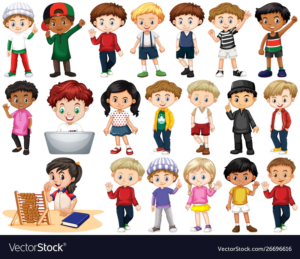 Set isolated children in different actions