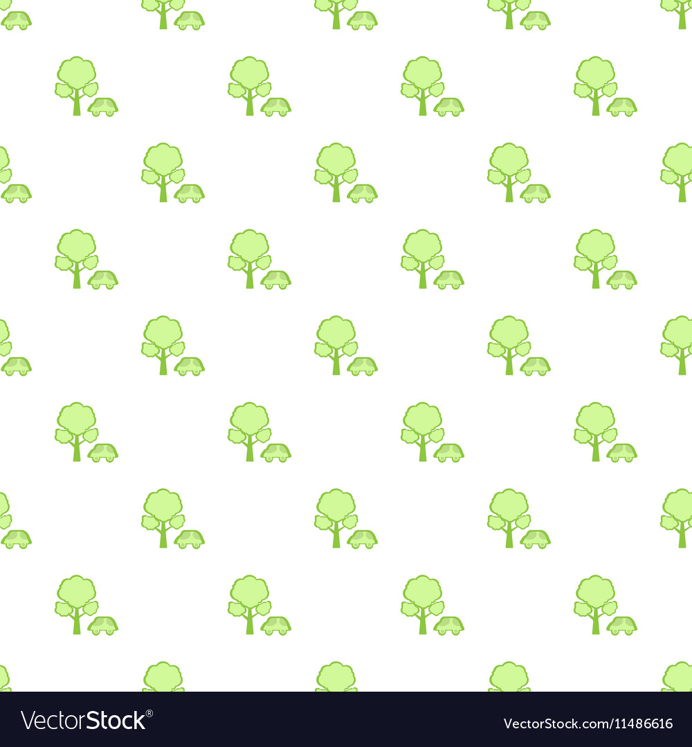 Simple green car pattern vector image