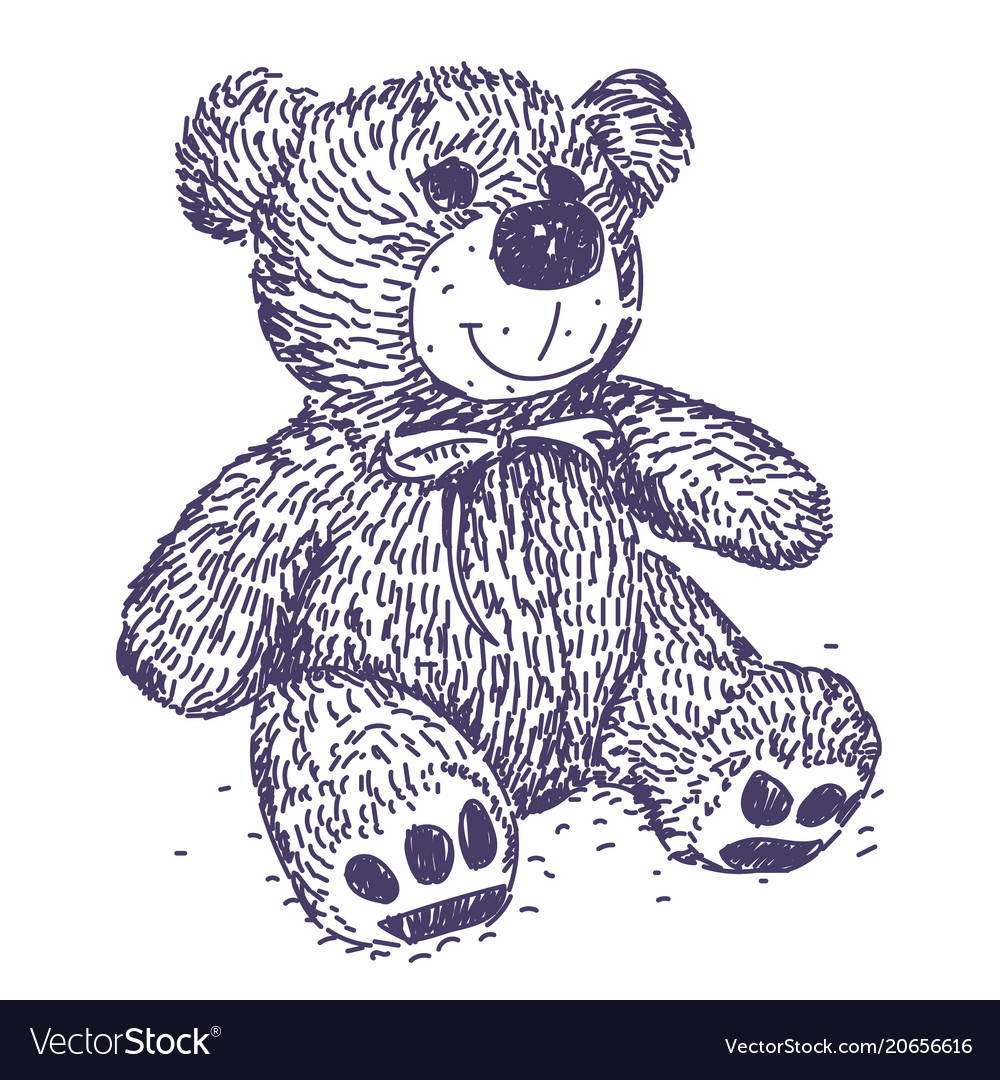 Teddy bear drawing royalty free vector image vectorstock teddy bear drawing vector image altavistaventures Image collections