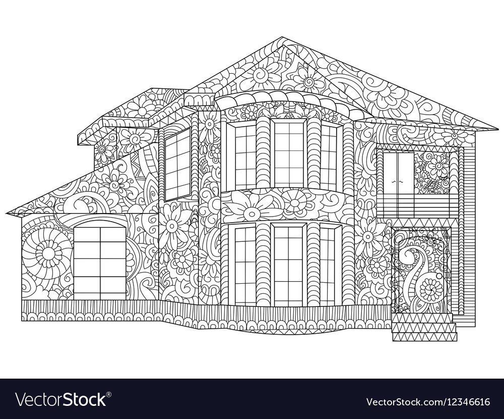 Two-storey house coloring
