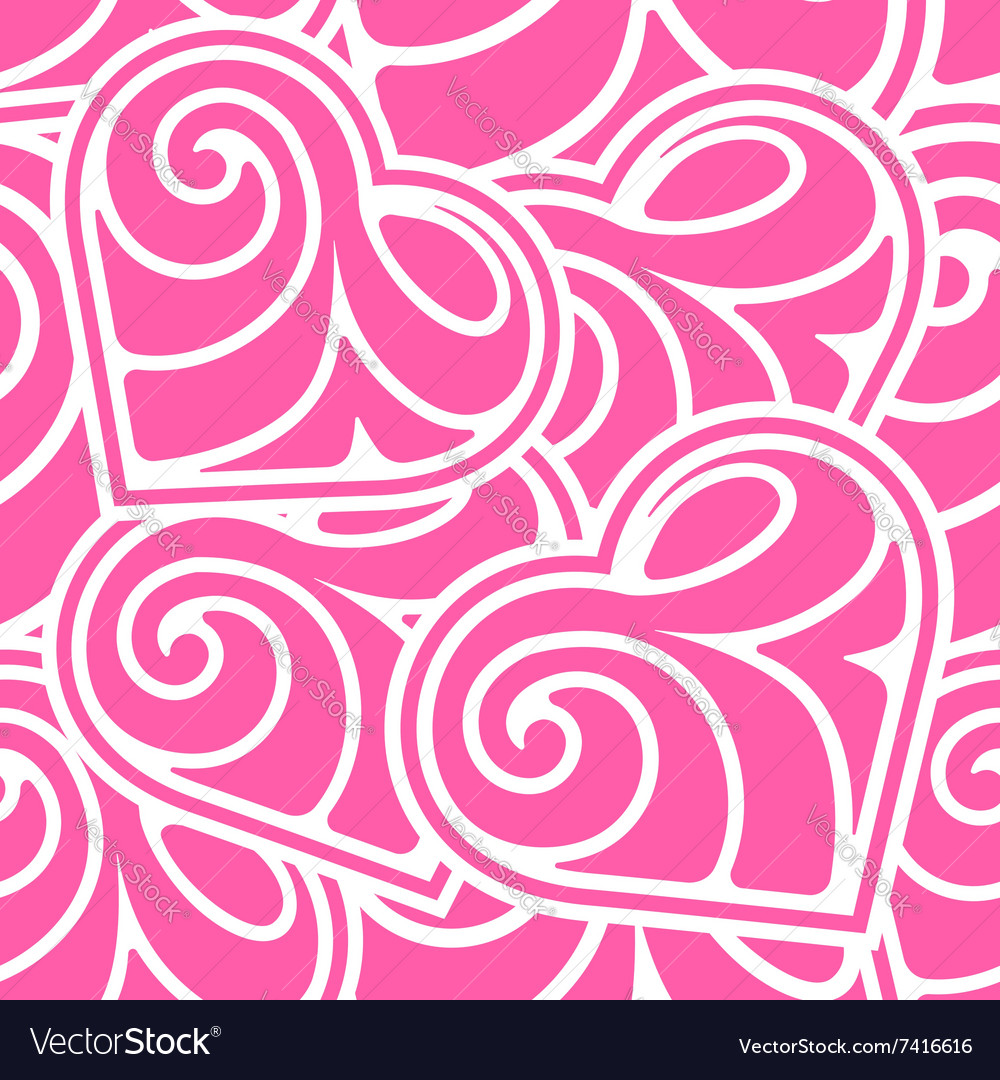 Valentine day seamless vector image