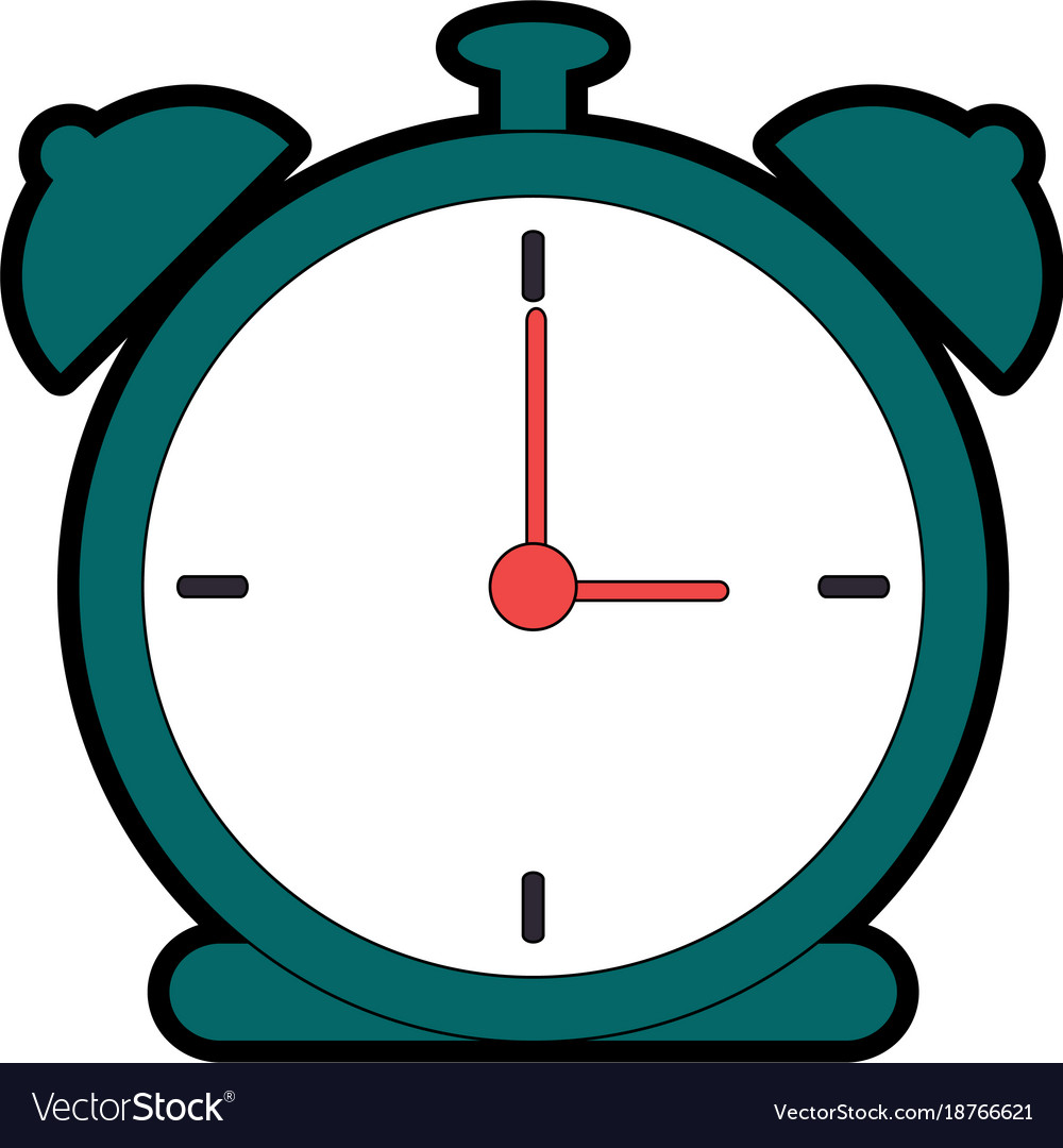 alarm time clock icon royalty free vector image rh vectorstock com clock icon vector free download alarm clock icon vector