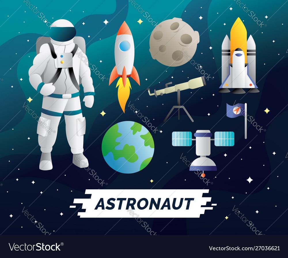 Astronaut design element