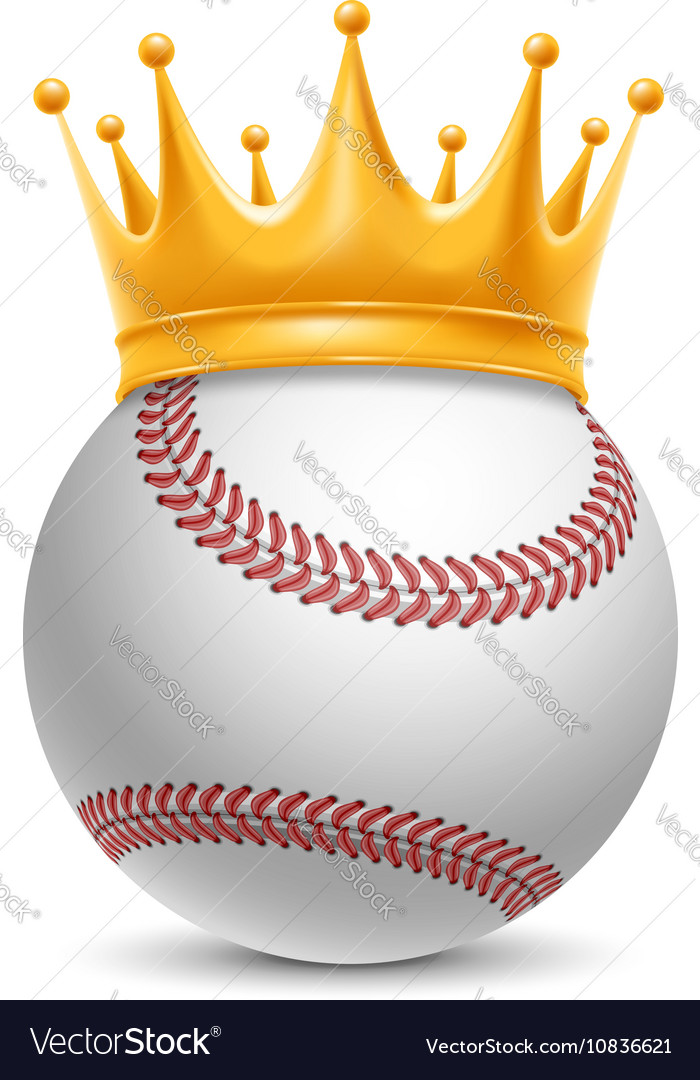 Baseball ball in crown
