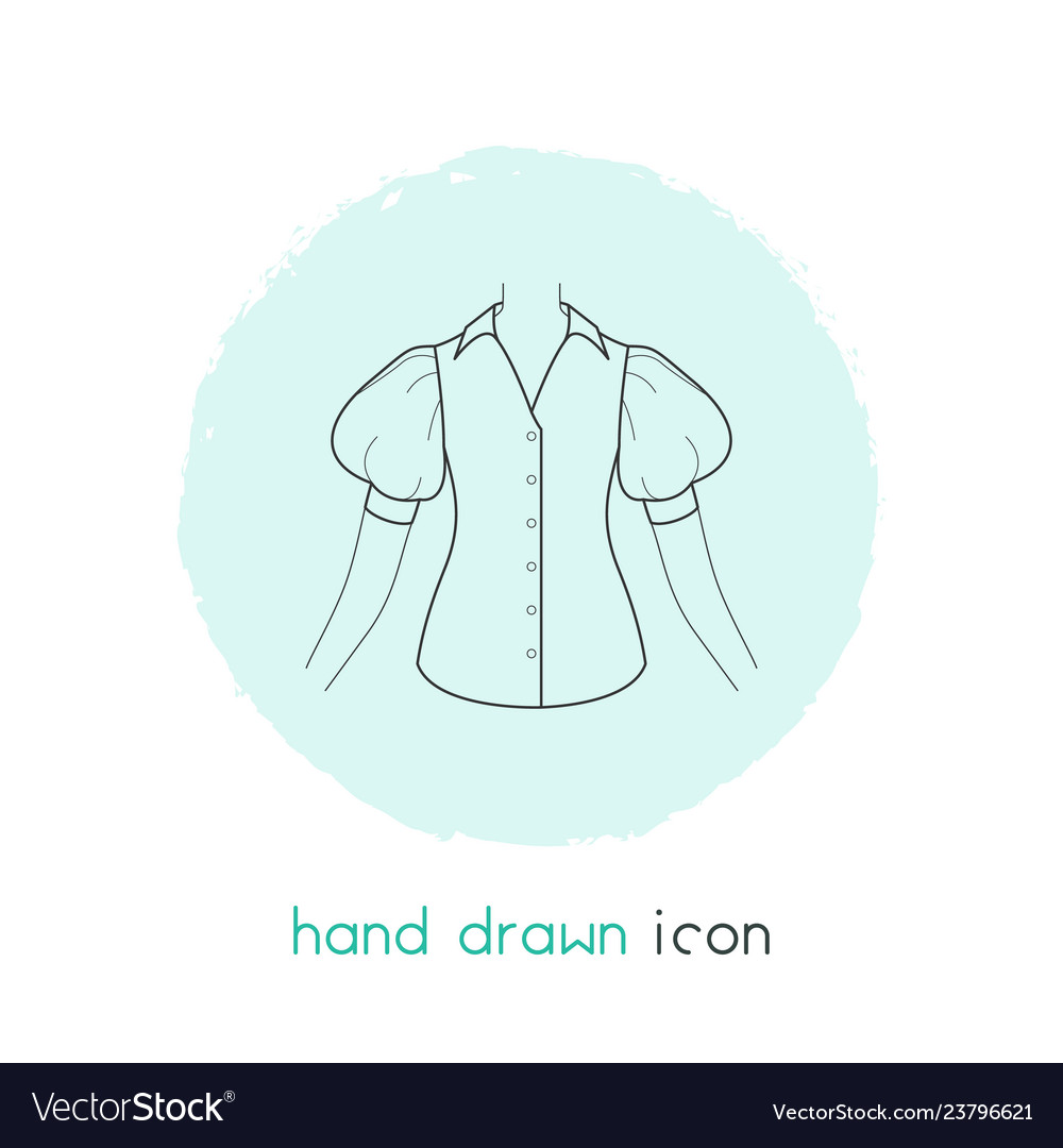 Blouse icon line element of