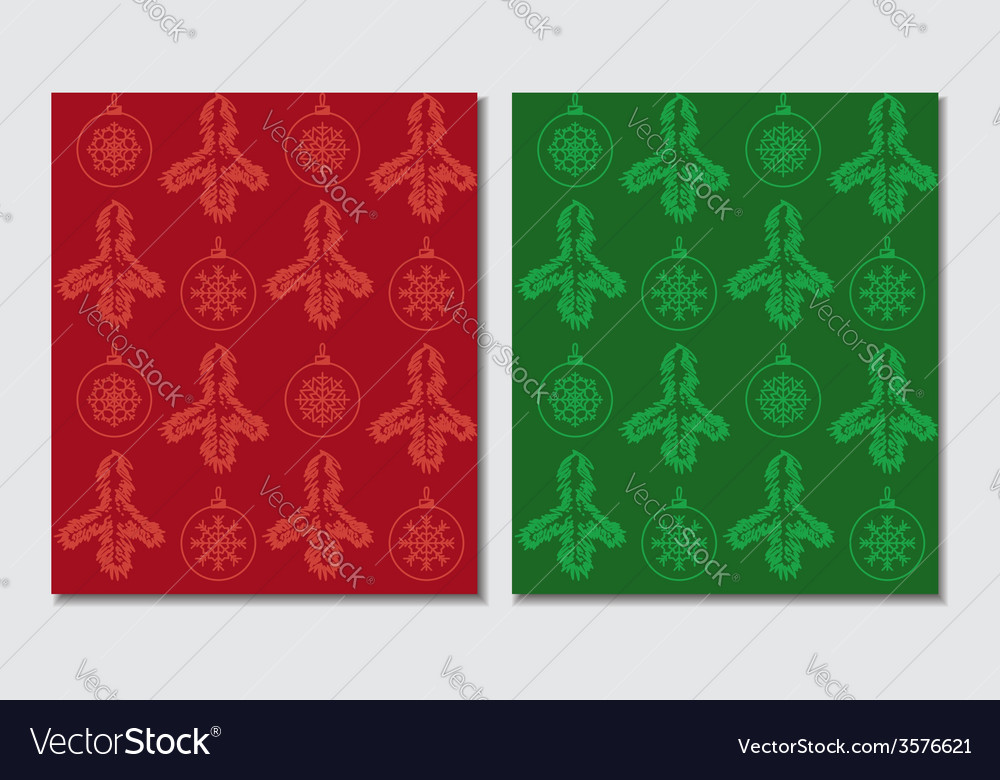 Christmas themed seamless patterns