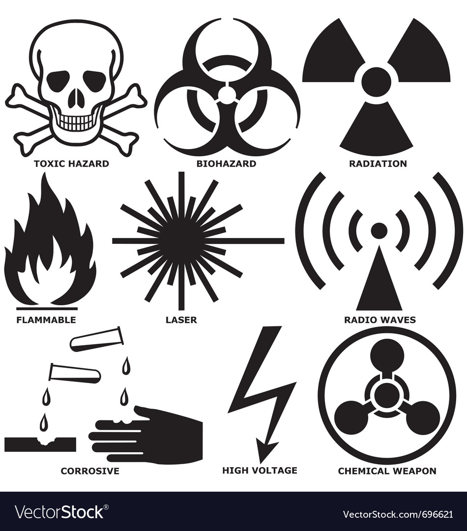 Warning And Hazard Symbols Royalty Free Vector Image