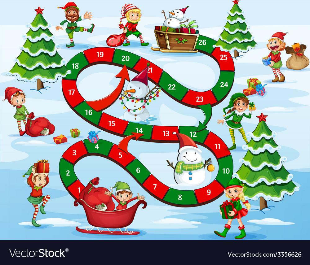 Christmas Board Design.Christmas Board Game