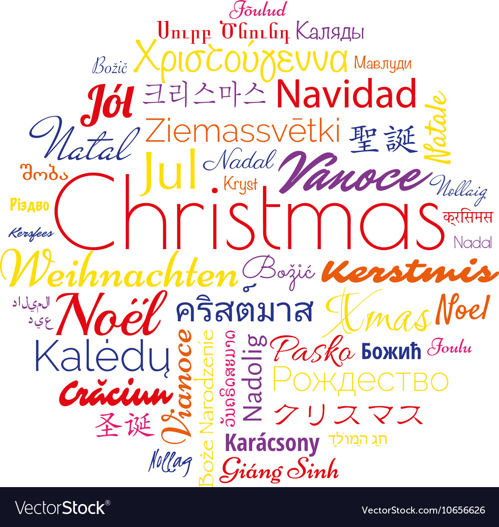 Christmas in different foreign languages