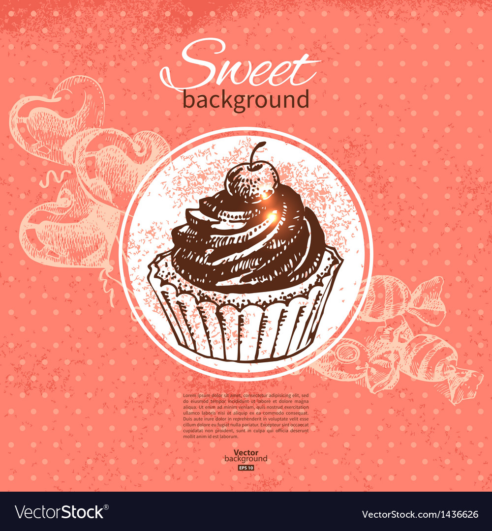 Hand drawn vintage sweet background
