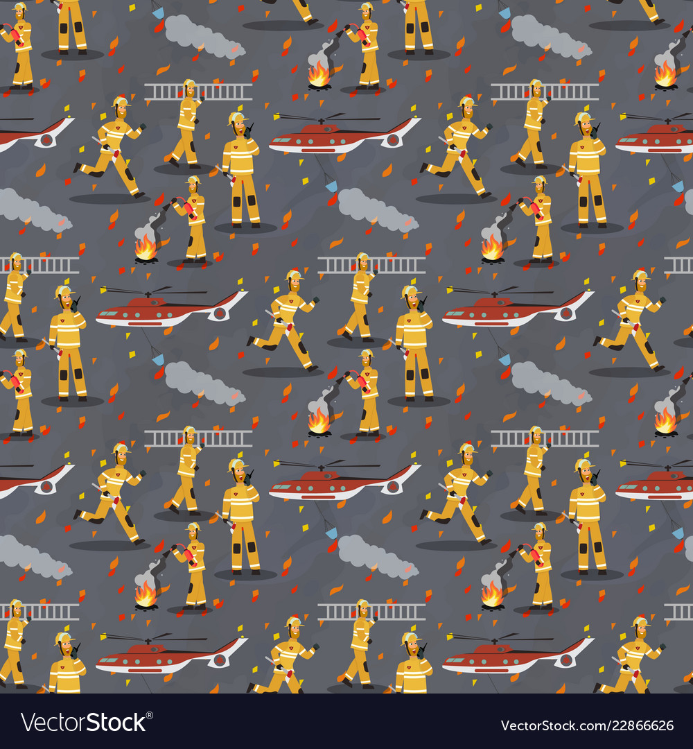 Image pattern group firefighter helicopter