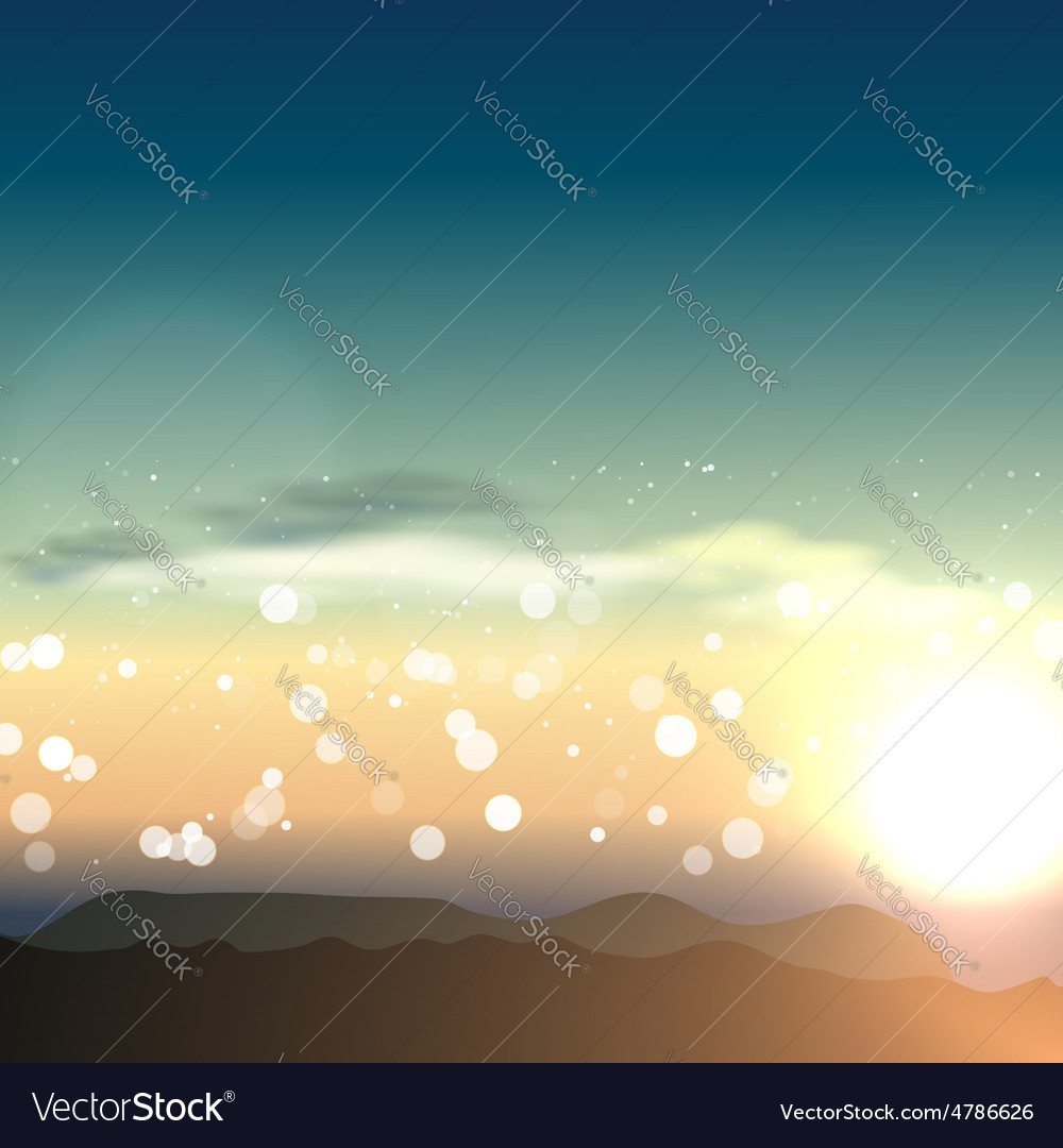 Natural background with sunset in