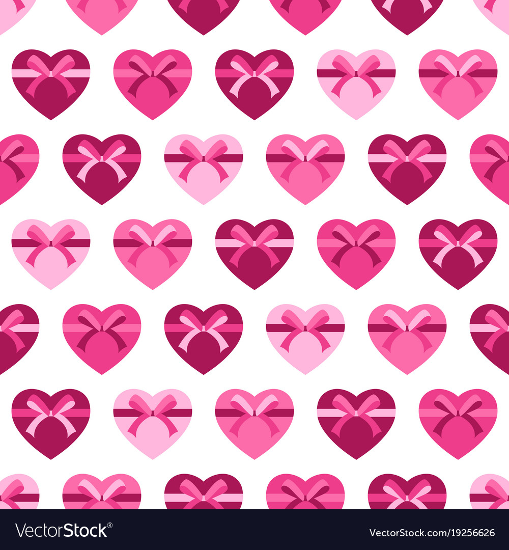 Seamless pattern hearts for valentine day vector image