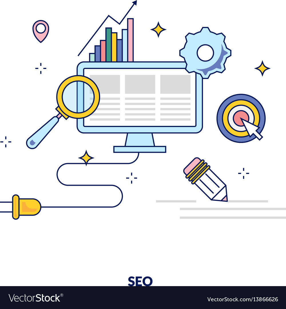 Seo optimization made in line style