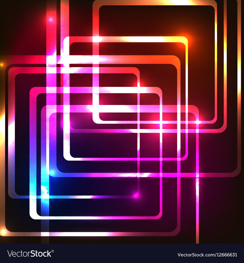 Abstract background with rounded rectangles vector image