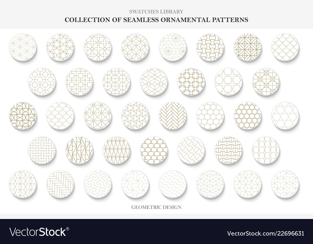 Collection seamless ornamental patterns