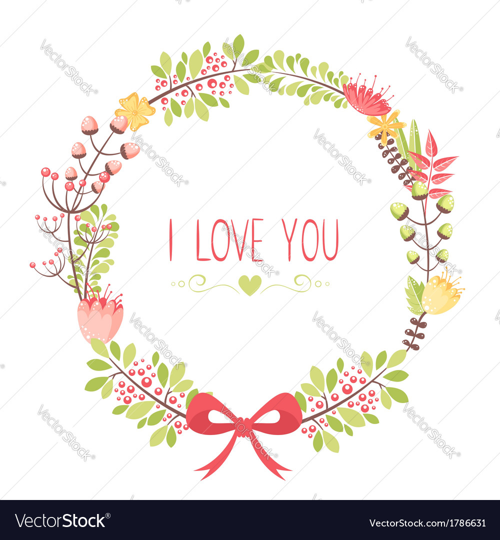 elegant floral congratulation card royalty free vector image
