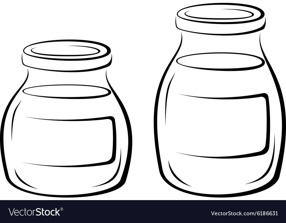 Glass Jars Black Pictograms
