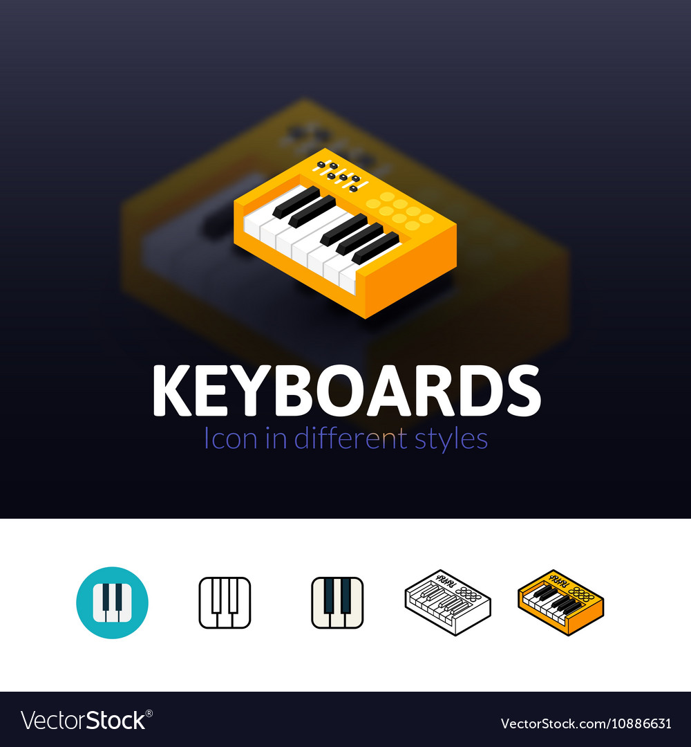 Keyboards icon in different style