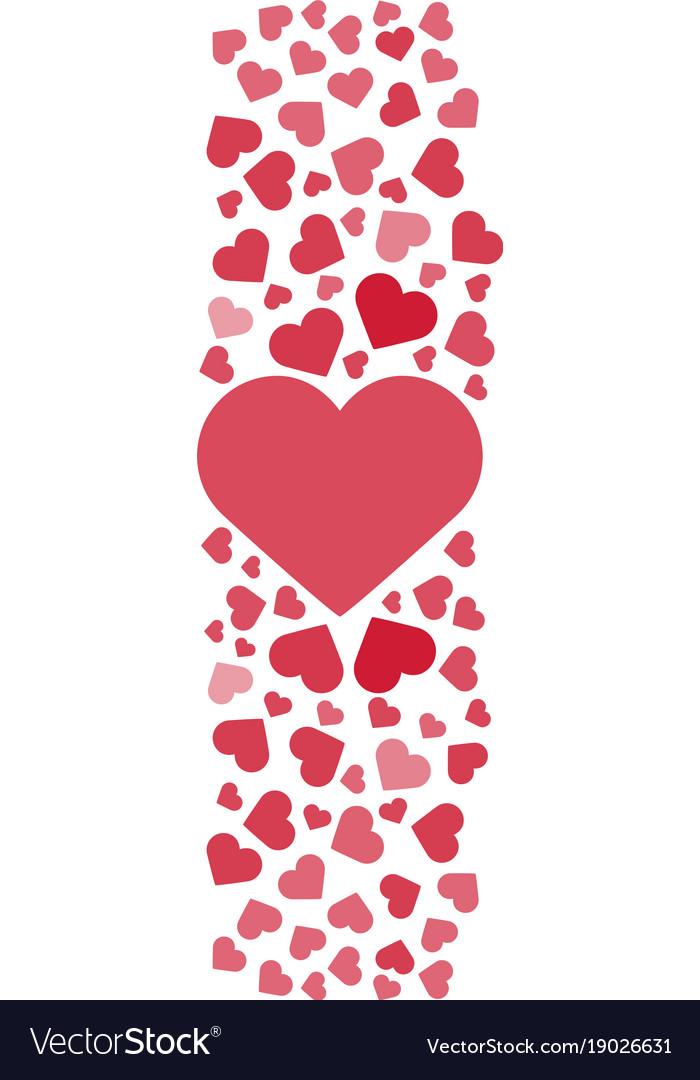 Love story logo love hearts