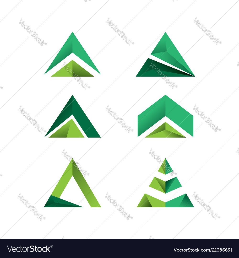 Set of triangle logo