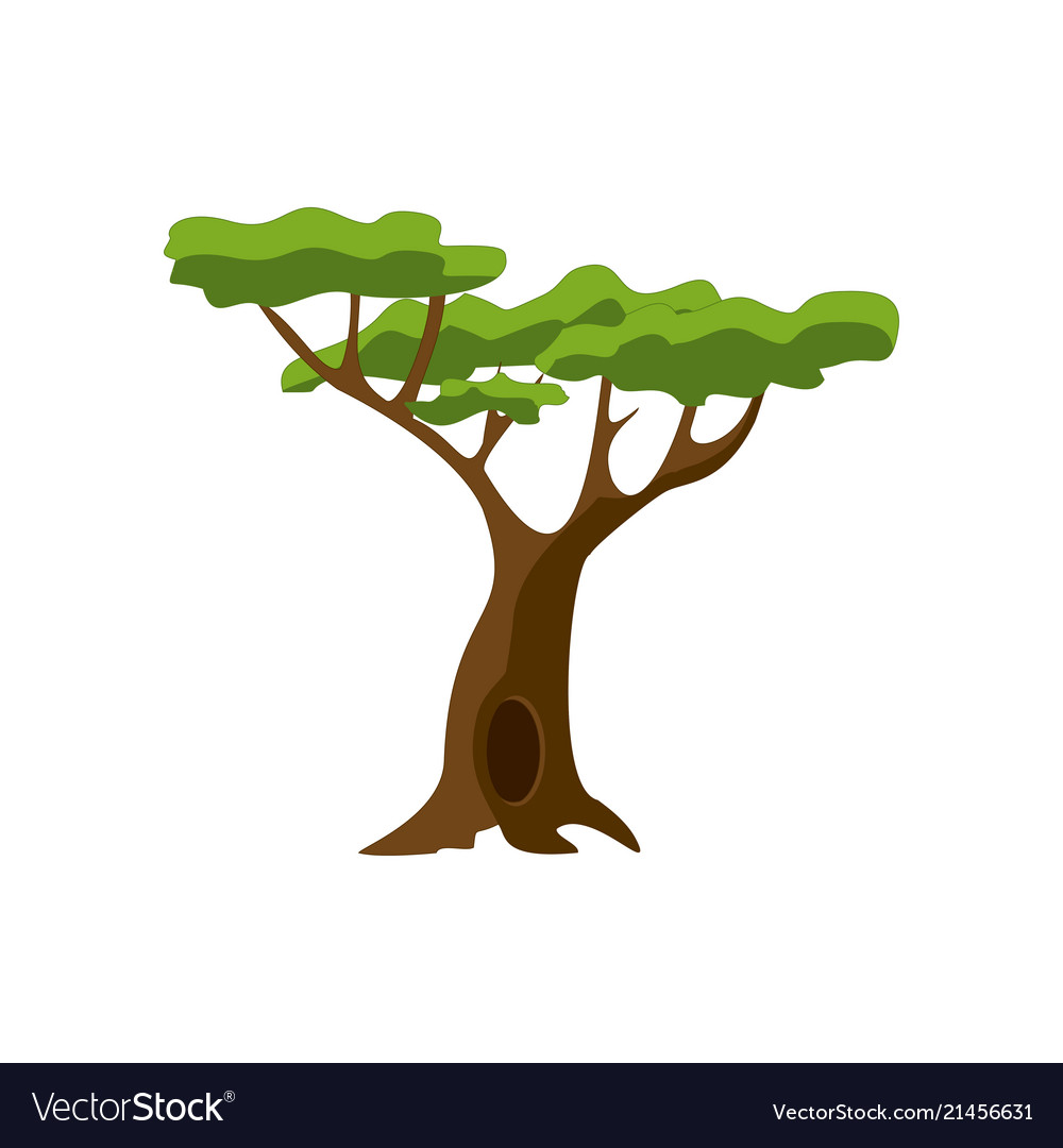 Stylized green tree cartoon