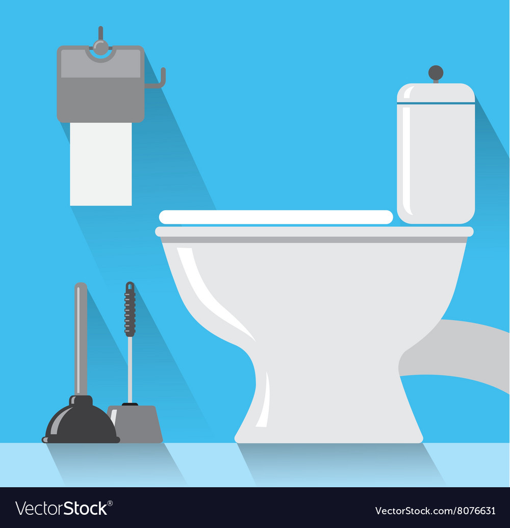 Toilet room vector image