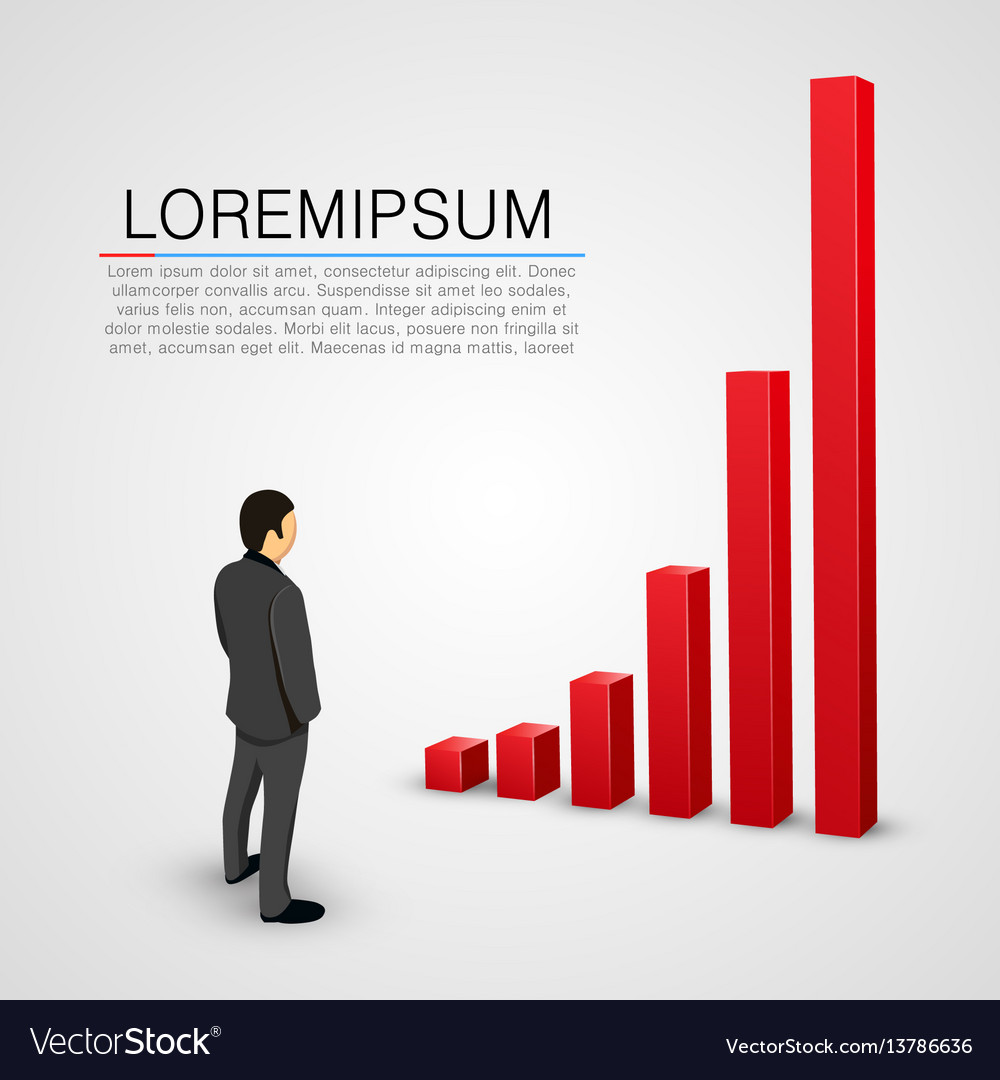 Businessman look at growing chart