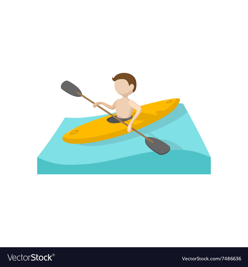 Canoeing cartoon icon