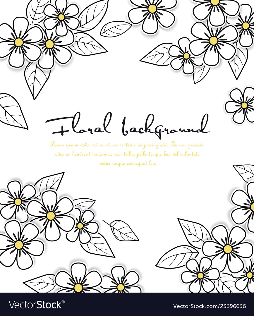 Card floral background