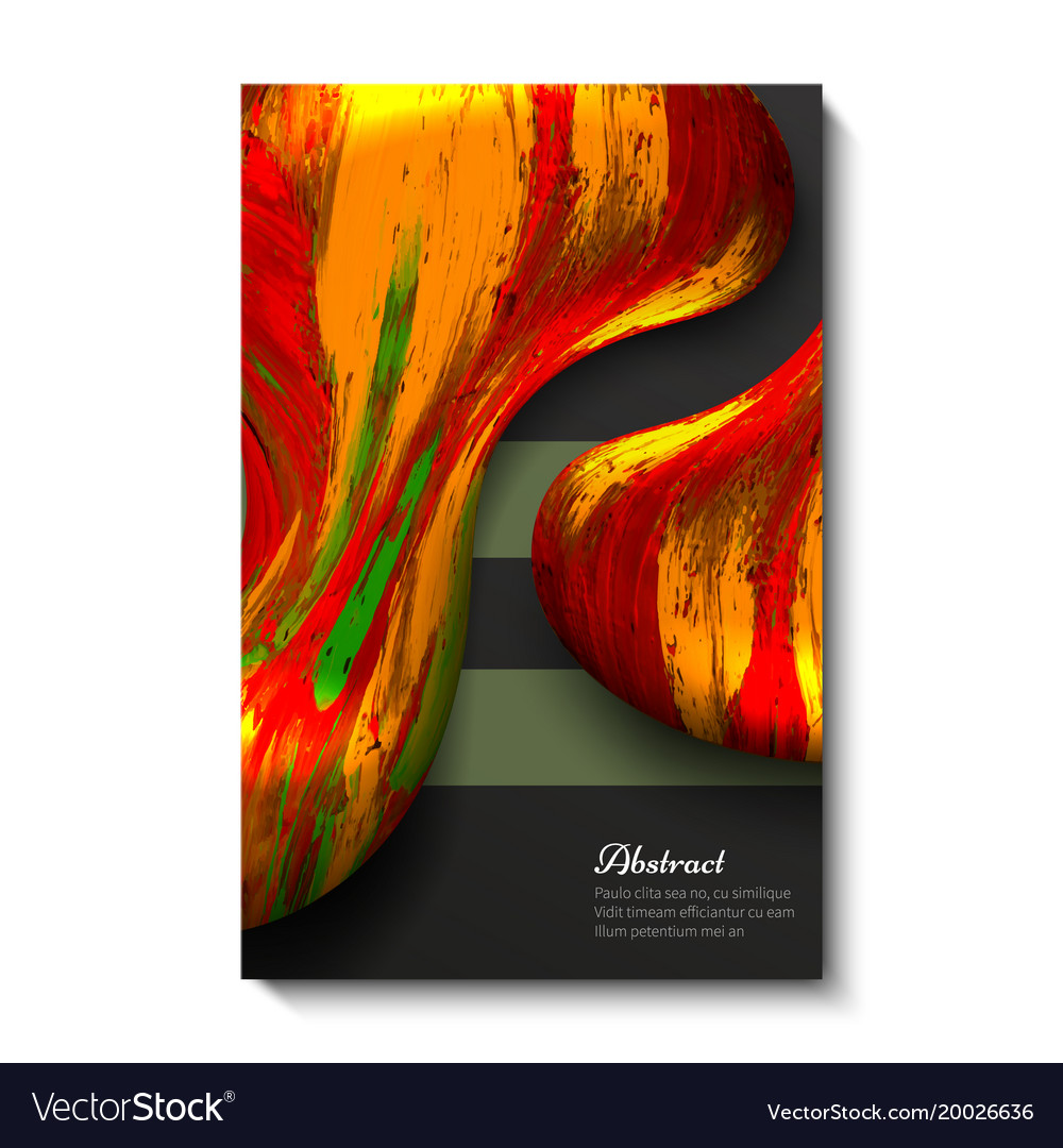 Creative bright universal abstract card design vector image