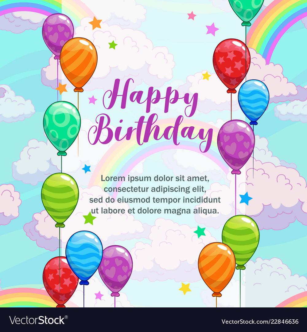 Happy birthday greetings greeting card Royalty Free Vector