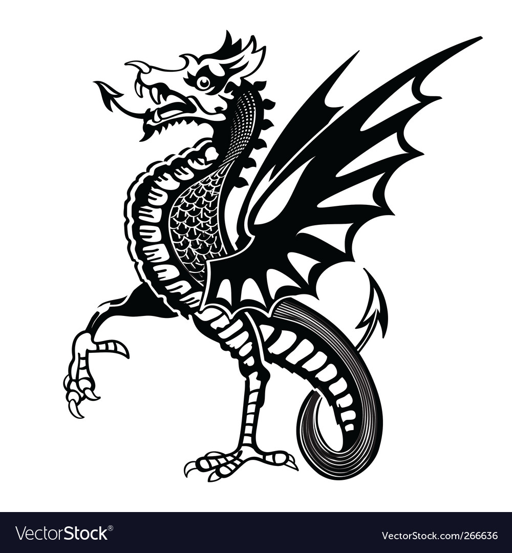 Medieval Dragon Royalty Free Vector Image