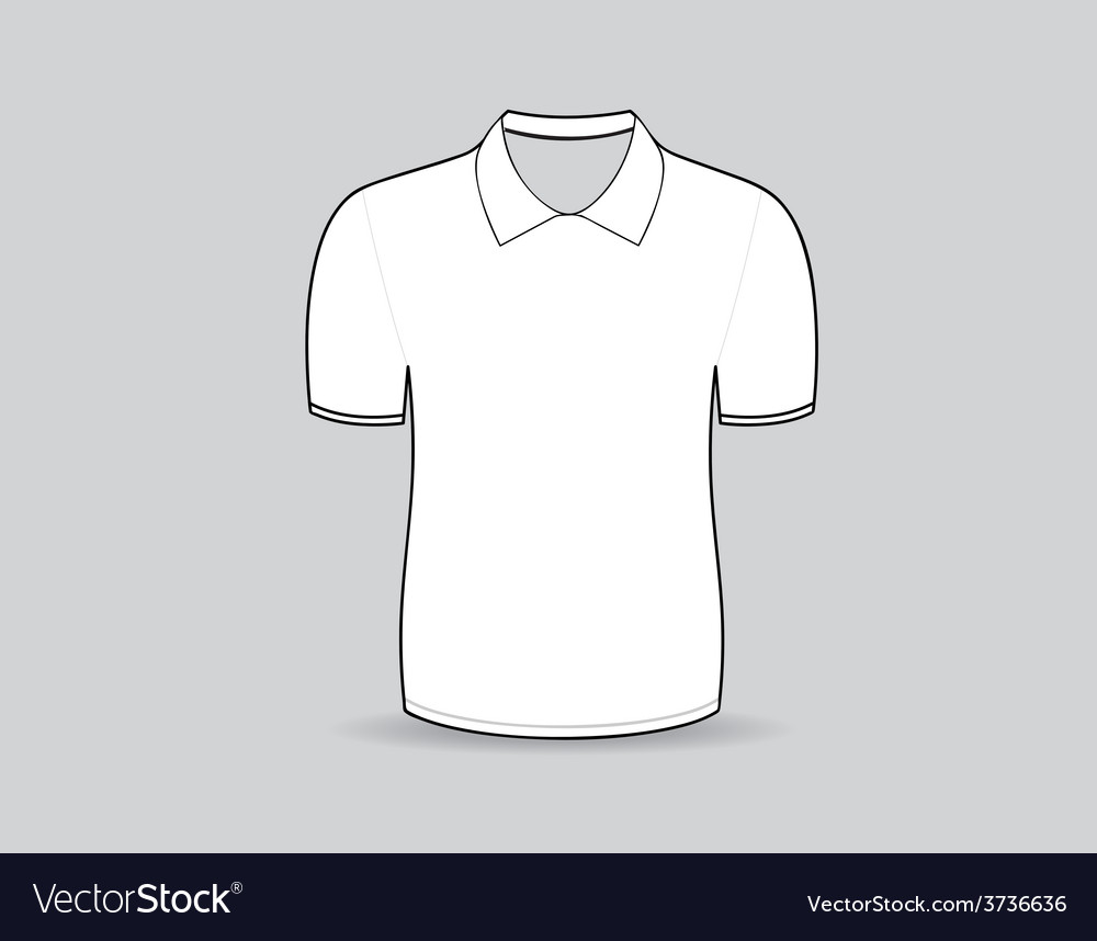 cb3d5f9959b6b Polo shirt outline Royalty Free Vector Image - VectorStock