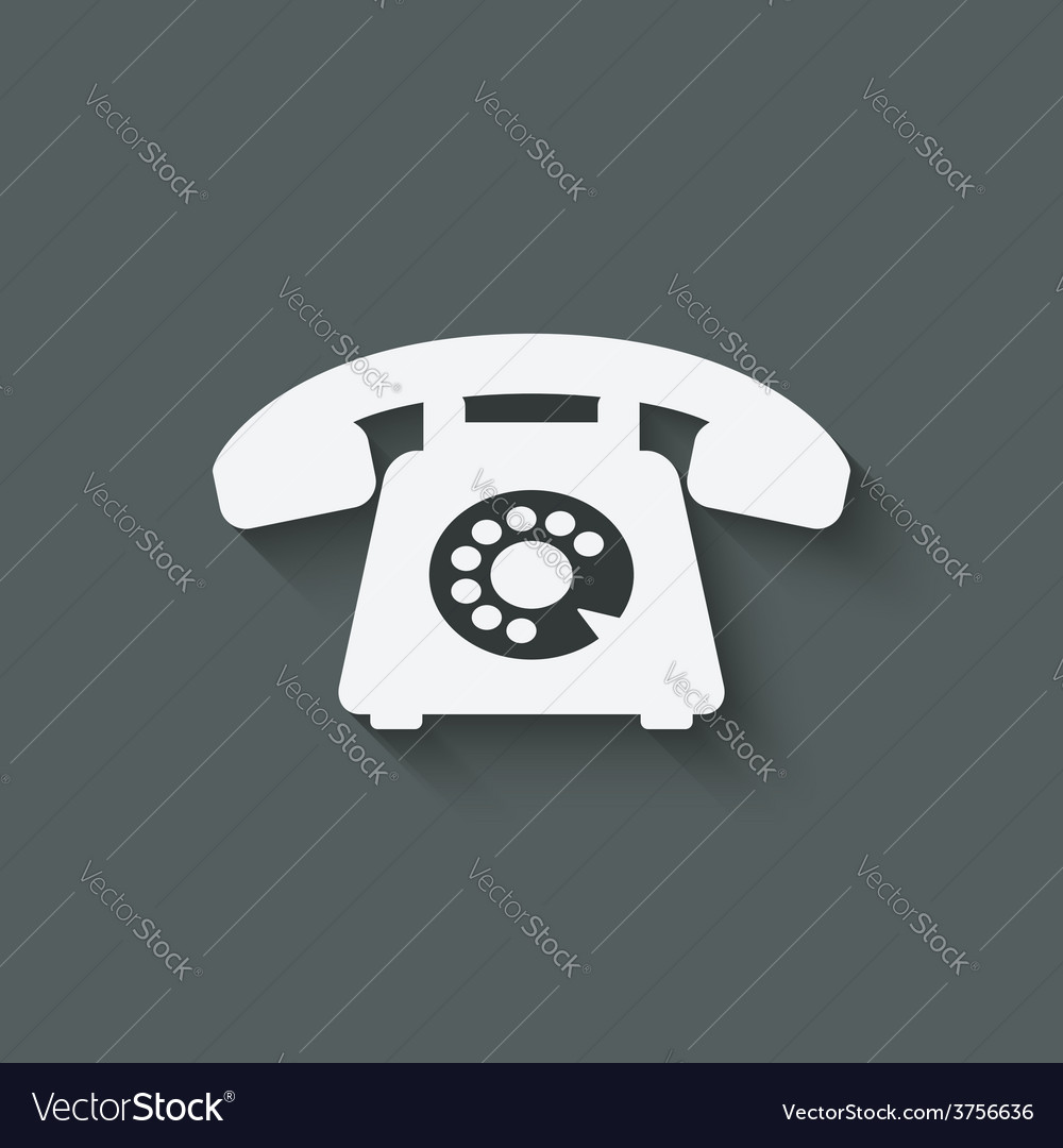 Retro phone symbol