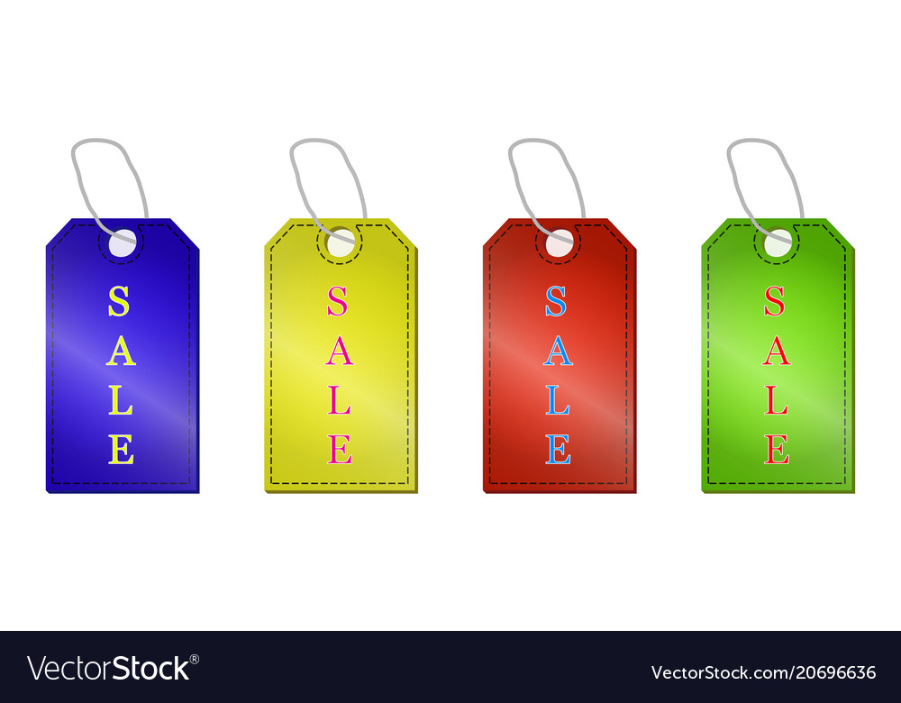 Sale tags set isolated on a white background