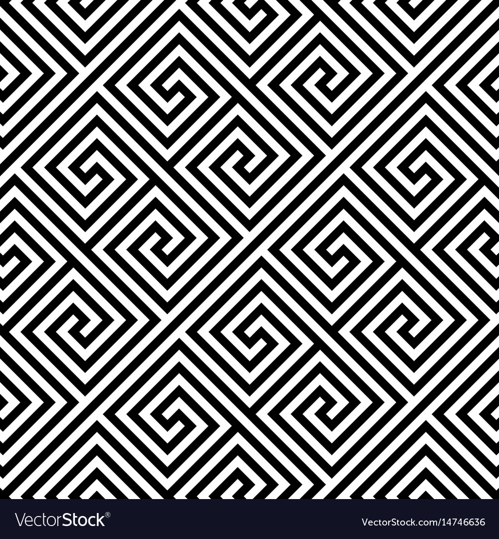 Square spiral seamless pattern