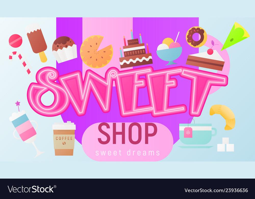 Sweet shop poster