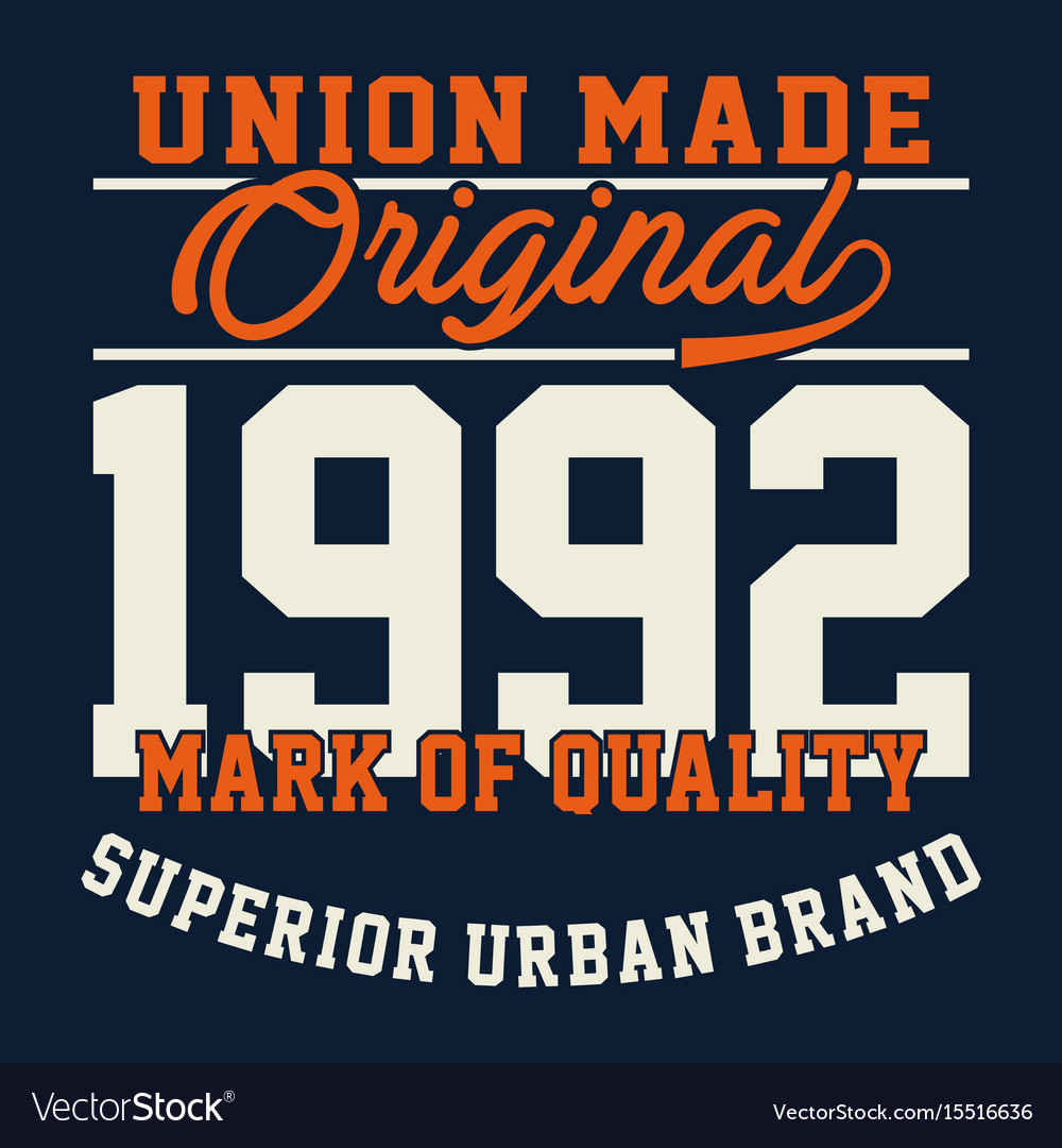 Union made original vector image