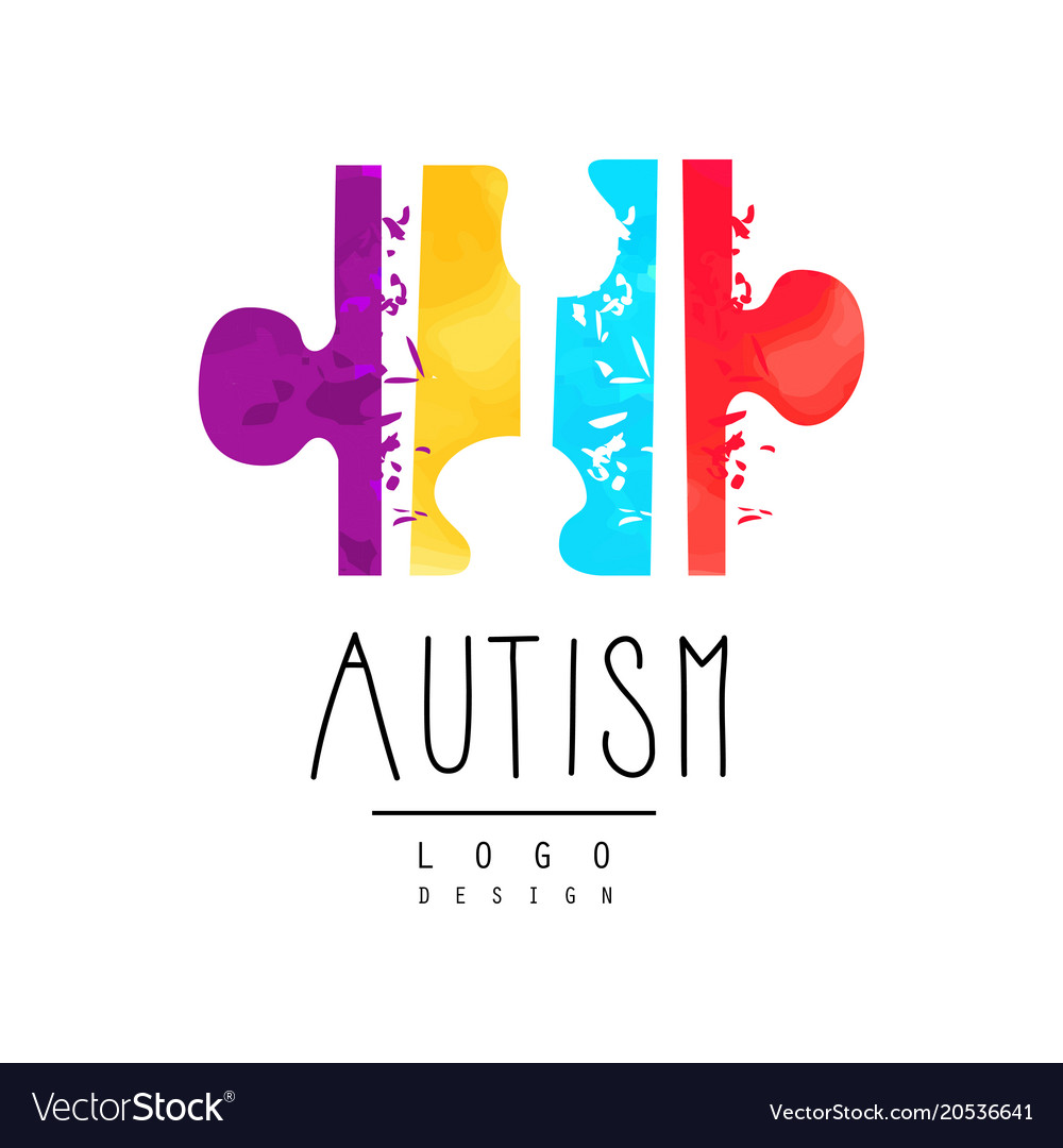 Bright Colored Logo With Symbol Of Autism Vector Image