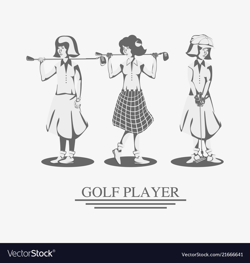 Golf player women in course