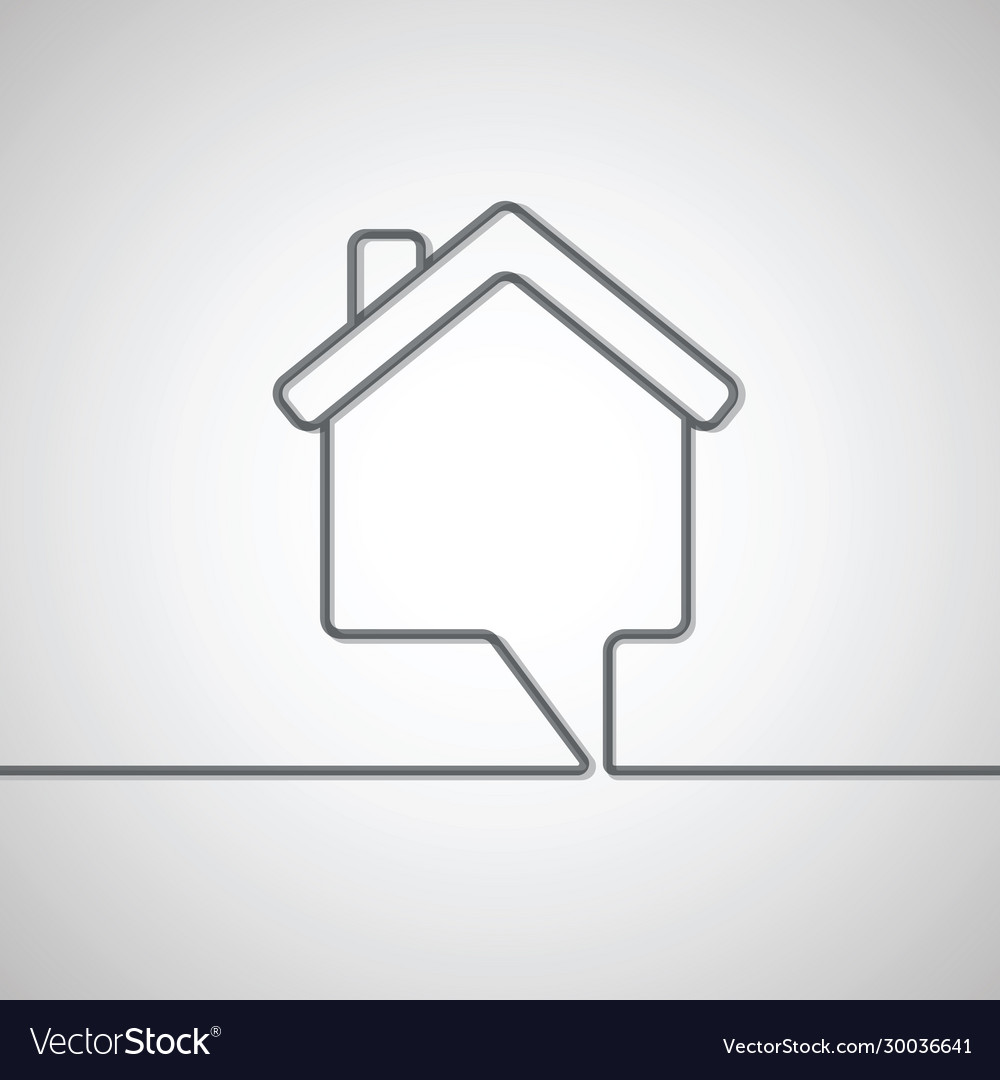 House shape speech bubble
