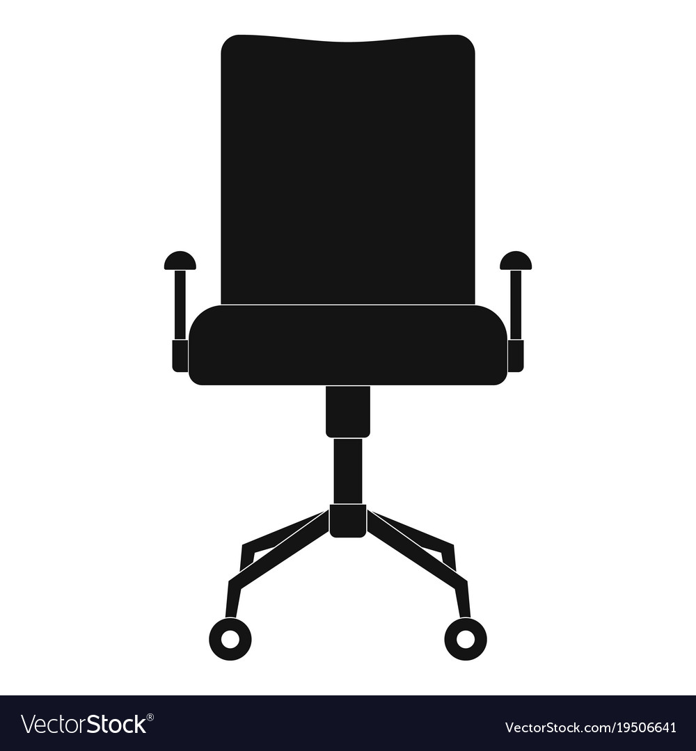 office leather chair. Leather Chair Icon Simple Style Vector Image Office C