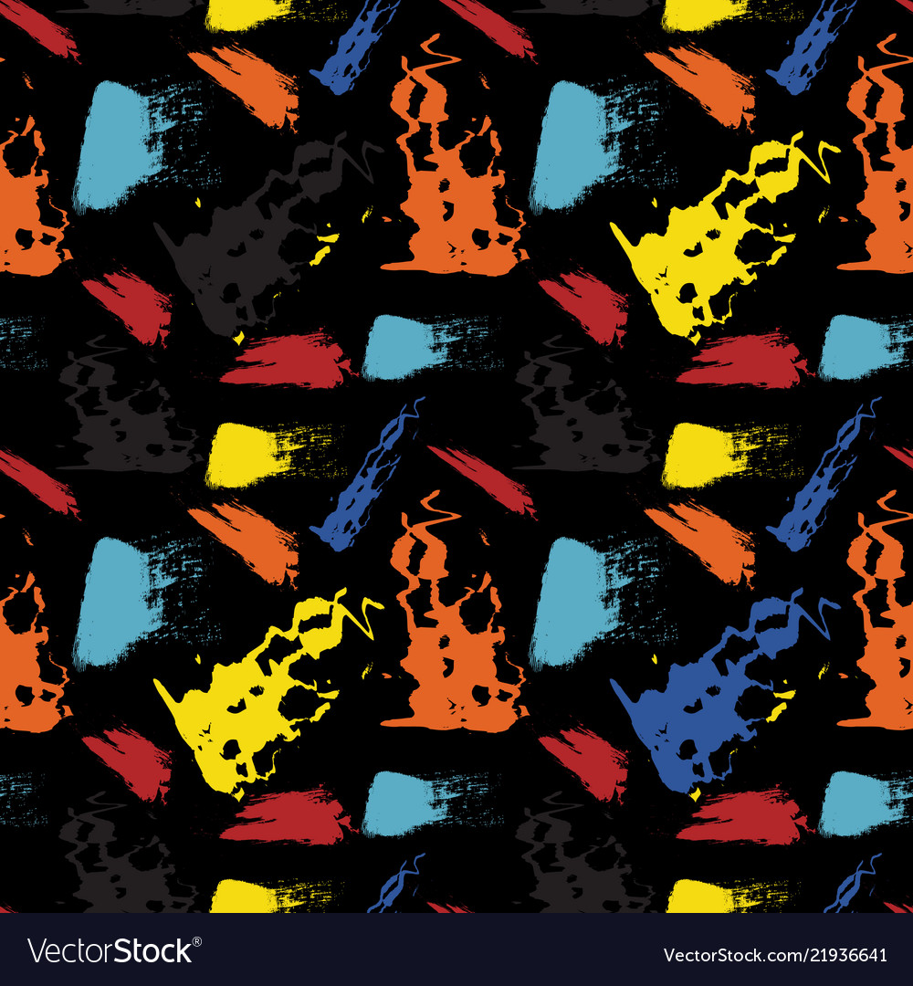 Seamless repeating pattern of brush strokes
